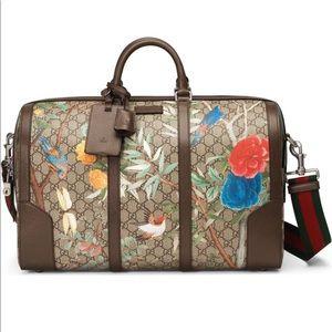 Brand New Gucci GG Tian Supreme Duffle Travel Bag